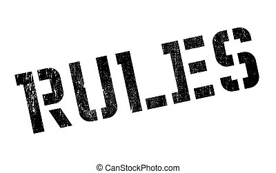Rules stamp rubber grunge