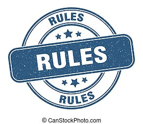rules stamp. rules label. round grunge sign