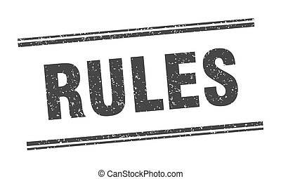 rules stamp. rules label. square grunge sign