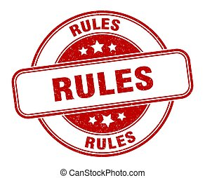 rules stamp. rules round grunge sign. label