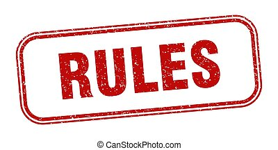 rules stamp. rules square grunge sign. label