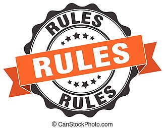 rules stamp. sign. seal