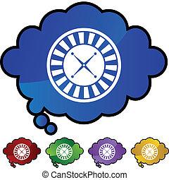 ruleta, icono