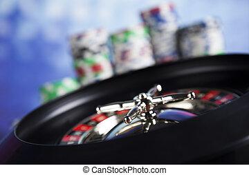rulett, hazárdjáték, alatt, egy, kaszinó