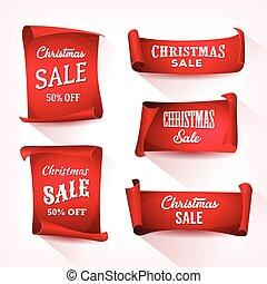 rulla, sätta, försäljning, jul, pergament