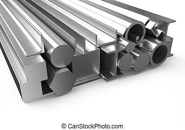 rullat, 3, metall, block