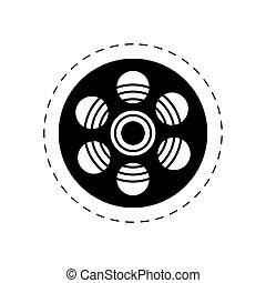 rulle, film, bio, film, avbild
