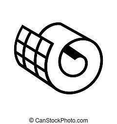 rulle, nätbindning, ikon