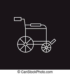 rullstol, fodra, ikon