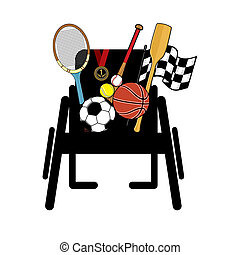 rullstol, sports