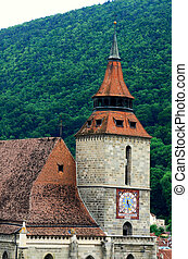 rumänien, transylvania, schwarz, brasov, kirche