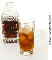 Rum and decanter 2 - Rum on ice with a decanter and...