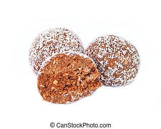 rum balls - chocolate truffles