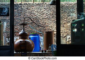 Rum distillery in Cambodia