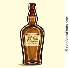 Rum - Bottle of rum