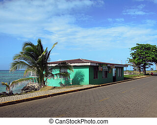 rum shop bar typical architecture in Big Corn Island Nicaragua Central America