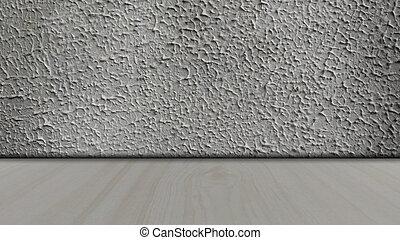 rum, vägg, konkret, bakgrund, inre, tom