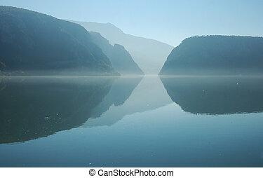 rumania, desfiladero de río, danubio