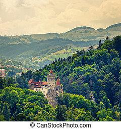 rumania, mito, dracula, también, conocido, castillo, salvado