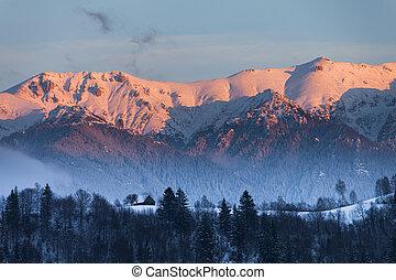 rumania, paisaje, bucegi, montañas