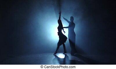 rumba, danse, émotif, exécuté, gracieux, champions, ralenti
