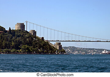 Rumeli fort and Fatih Sultan Mehmet bridge in Istanbul