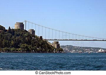 Rumeli fort and Fatih Sultan Mehmet bridge in Istanbul
