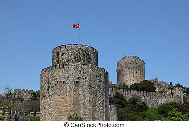 Rumeli Fortress on the Bosporus, Istanbul Turkey
