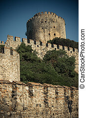 Rumeli Fortress which is built by Ottomans to protect...