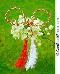 rumeno, simbolo, martisor, -, primavera