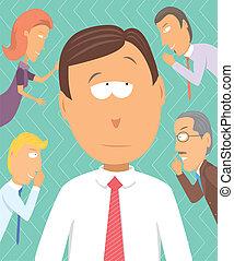 rumeurs, business, juste, conseillers, commérage, ou