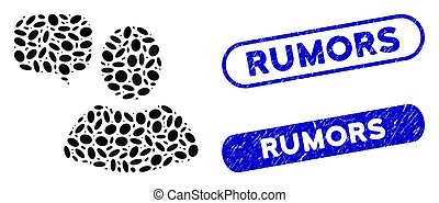 rumeurs, mosaïque, ellipse, utilisateur, filigranes, grunge, opinion
