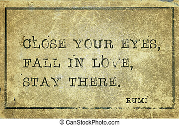 rumi, miłość, upadek