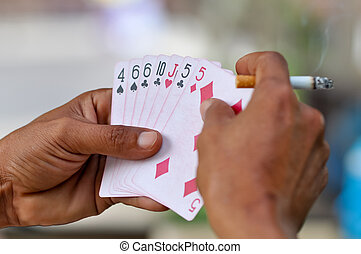 Rummy is a group of matching card games notable for similar ...