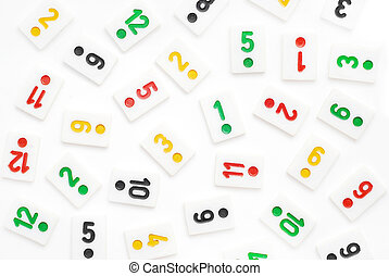 rummy pieces background on white