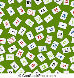 rummy pieces pattern - Seamless background with rummy pieces