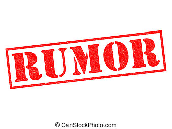 RUMOR red Rubber Stamp over a white background.