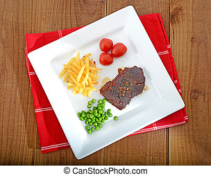 rump steak dinner