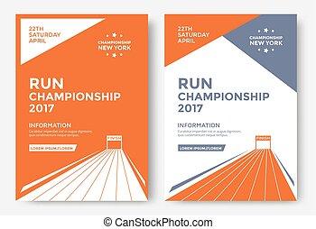 Run championship poster