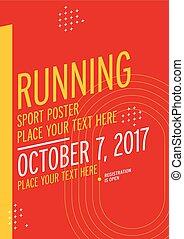 Run championship poster design template.