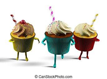 Run cupcake - Big cupcake delicious and very colorful racing