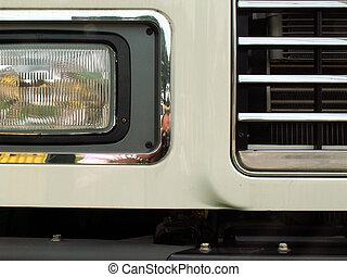 run down 2 - closeup of a tractor trailer grill