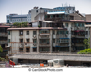 Run down building - Run down residential building in Xian,...