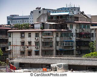 Run down residential building in Xian, China.