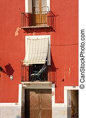 Run down facade - Run down, though colorful, Mediterranean...