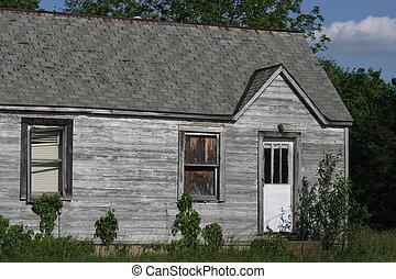 A run down old house