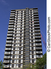 Run down tower block - A run down tower block in central...