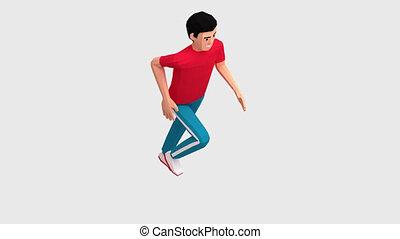Run fitness exercise. Running man. Sport jogging.