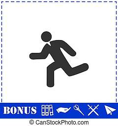 Run icon flat