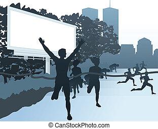 Run in the street